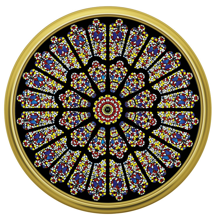 Дэмьен Херст, The rose window, Durham Cathedral. 2008.